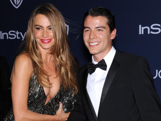 Sofia took Manolo to the InStyle/WB Golden Globe Awards Party.