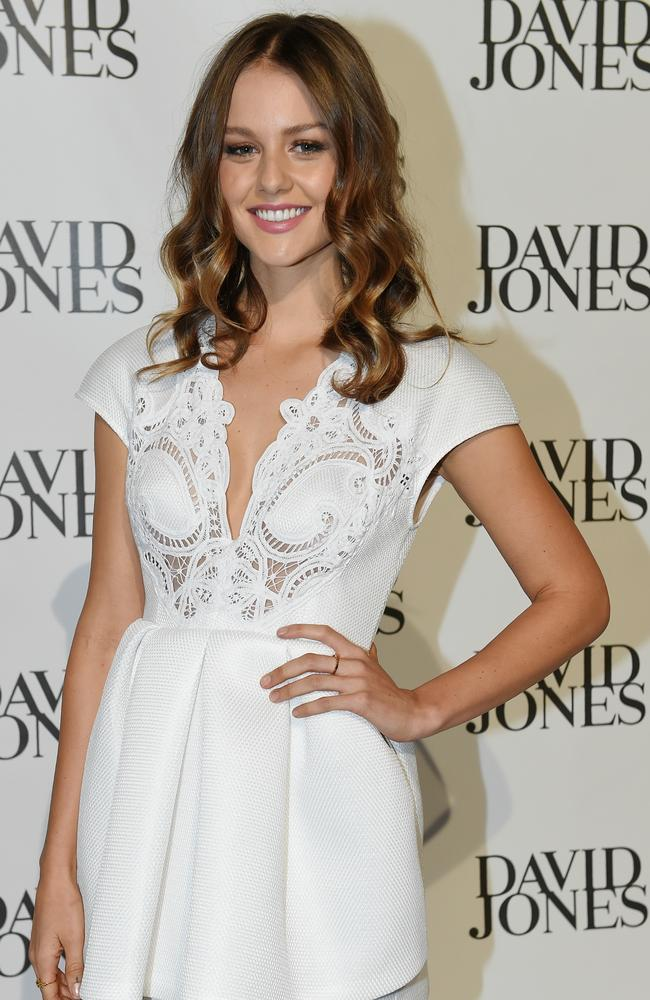 Isabelle Cornish. David Jones Spring-Summer launch fashion show
