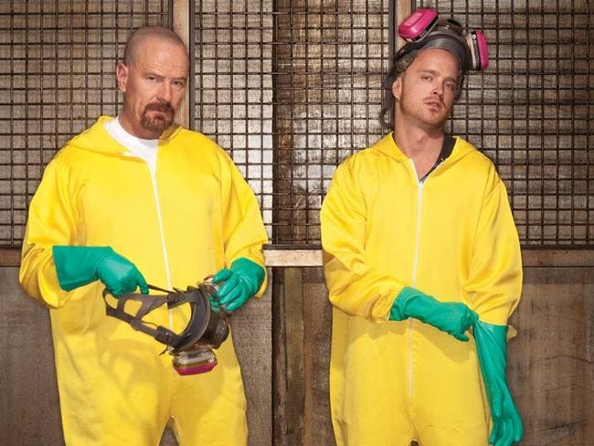 Popular TV series Breaking Bad, where characters Walter White and Jesse Pinkman manufactured drugs.