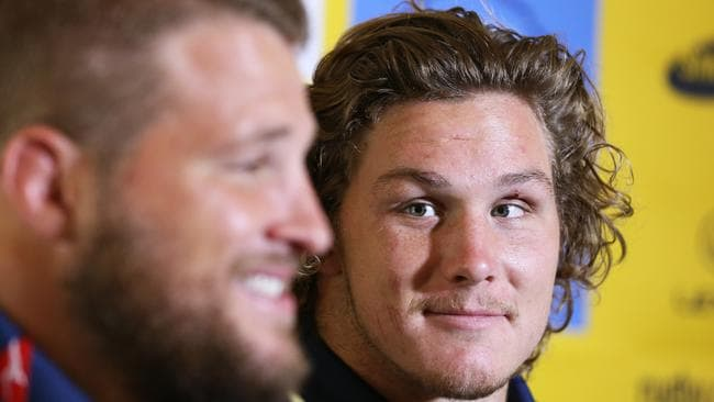 Hooper at the Wallabies press conference on the Gold Coast in which his captaincy was announced.