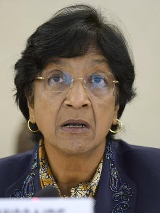 MH17 incident could be a 'war crime' ... UN High Commissioner for Human Rights, Navi Pillay. Picture: Martial Trezzini