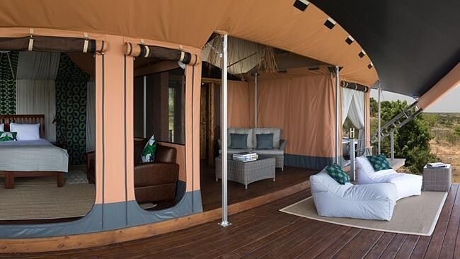 Luxurious rooms with incredible views of the 13,500 hectares of bush. Picture: Supplied.