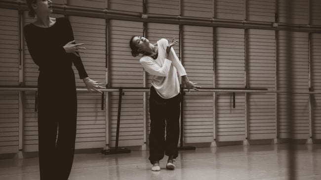 Alice Topp during a 'Little Atlas' rehearsal. Photo: Kate Longley.