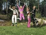 """Publicity shots in Vallentuna for the leading West German pop magazine, Bravo. -- Hardie Grant Books. """"ABBA: The Official Photo Book"""". Picture: Wolfgang """"Bubi"""" Heilemann. 1974."""