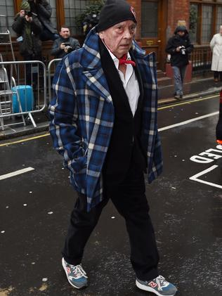 David Bailey arrives for the wedding. Picture: Ben Pruchnie/Getty