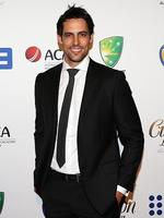 Mitchell Johnson on the red carpet of the 2014 Allan Border medal. Pic Brett Costello