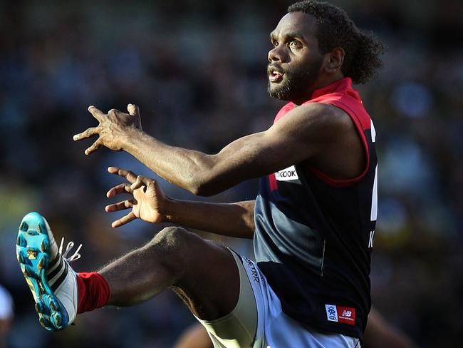 Jurrah in action for the Demons in 2011. Pic. Michael Klein