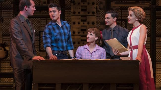 Esther Hannaford (centre) as Carole King.