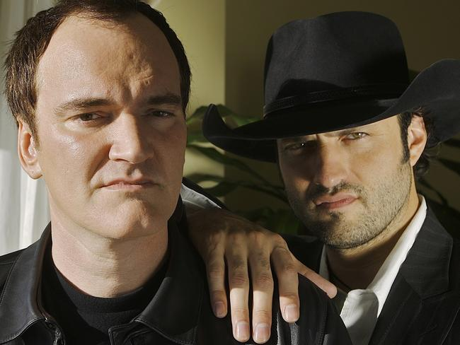 Rodriguez, right, is turning the film he made with Quentin Tarantino, left, into a TV series.