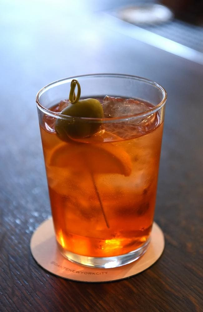 One of Liana Oster's classic creations, an Aperol spritz. Picture: Alex Towle/news.com.au