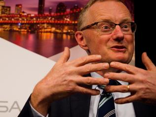 Philip Lowe, Governor of the Reserve Bank of Australia during his address to The Economic Society of Australia lunch Brisbane, Australia, on Thursday, May 4, 2017. Lowe said he expects Òa period of stabilityÓ in interest rates and suggested further cuts could push already high household debt to ÒdangerousÓ levels. Photographer:Patrick Hamilton/Economic Society of Australia