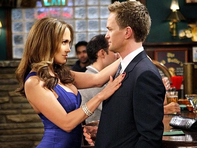 Barney tries to seduce 'Anita' (played by Jennifer Lopez) in 'Of Course'.