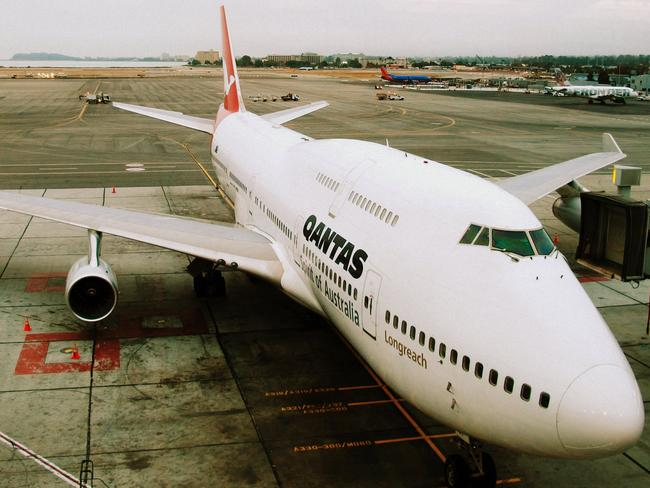 The Qantas 747 will soon be retired. Picture: Donal Moutain