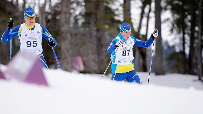Ukrainian athletes practice ahead of the 2014 Winter Paralympics in Sochi.