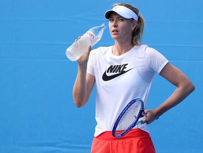 Maria Sharapova featured in Channel 7's tweet.