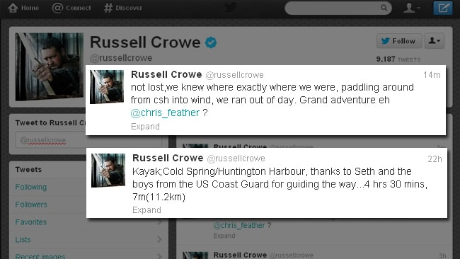 Russell Crowe Twitter