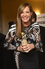 Allison Janney poses with the trophy for Best Performance by an Actress in a Supporting Role in any Motion Picture during the 75th Golden Globe Awards. Picture: AFP