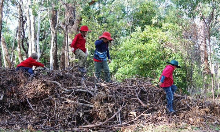 Kids from Upper Sturt school participating in outdoor learning. Picture: supplied.