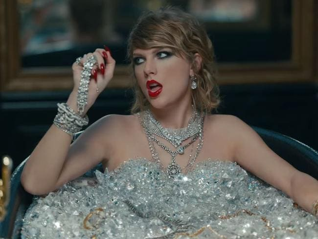 The most expensive bath ever. Picture: Taylor Swift/Vevo