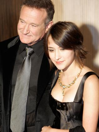 Family ties ... A file picture taken on October 23, 2006 shows actor Robin Williams and his daughter on the red carpet of a Hollywood Film Festival. Source: AFP