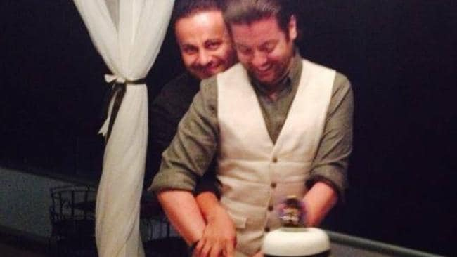 Marco (left) and David Bulmer-Rizzi at their wedding ceremony. Source: Facebook