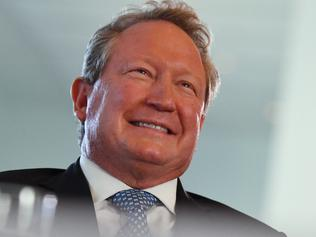 Fortescue Metals Group CEO and philanthropist Andrew 'Twiggy' Forrest at an event unveiling one of Australia's largest philanthropic donations to fund a variety of social and scientific causes at Parliament House in Canberra, Monday, May 22, 2017. (AAP Image/Mick Tsikas) NO ARCHIVING