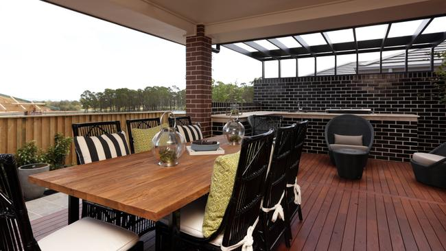 The large al fresco dining area is perfect for summertime entertaining. Picture: John Fotiadis