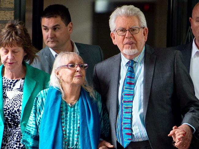 Rolf Harris with his wife Alwen Hughes. Picture: Getty.