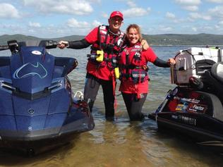 Glenn and Lorraine Keating end their attempt to circumnavigate Australia on jet skis April-May 2016. Picture: Supplied.