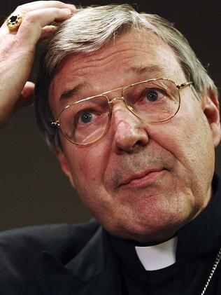 Cardinal George Pell addresses the media. Picture: Getty Images
