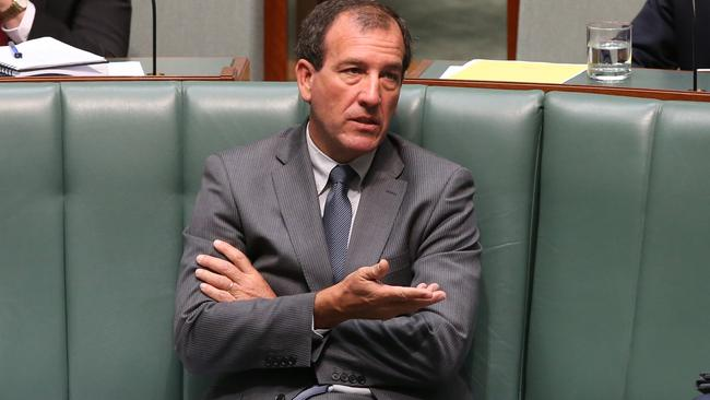 Mal Brough during Question Time in the House of Representatives Chamber, Parliament House in Canberra.