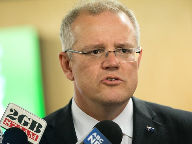 """Federal Treasurer Scott Morrison was left out of the PM's """"inner circle"""". Picture: AAP"""