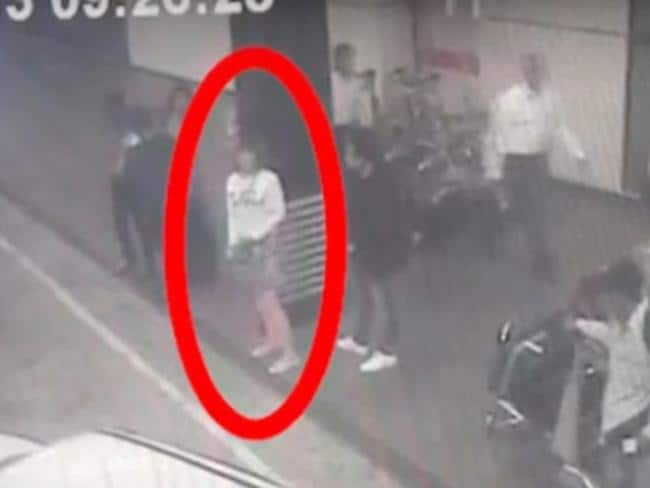 CCTV footage of a woman involved in the assassination. Picture: AAP Image/Yonhap News Agency