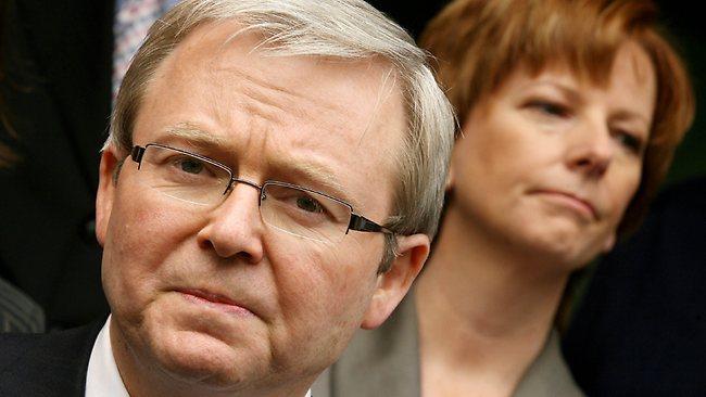 Kevin Rudd and Julia Gillard in December 2006.
