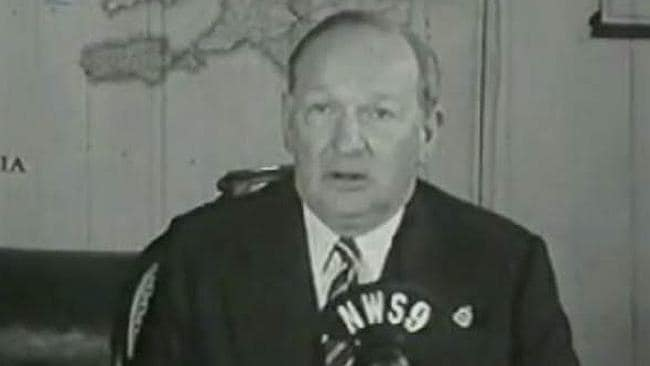 Premier Sir Thomas Playford declared Channel 9 open and welcomed television to South Australia. Source: Channel 9.