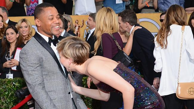 Clowning around ... Cuba Gooding Jr. and Jennifer Lawrence attend the 20th Annual Screen Actors Guild Awards. Picture: Getty