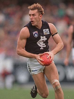 AFL footballer Anthony Koutoufides 12 Jun 1995. football a/ct