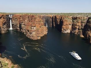 ESCAPE: KIMBERLEY CRUISE .. John Huxley story .. King George Falls. Picture: Tourism Western Australia