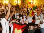 It's a happier scene at the German Club. Picture: Simon Cross