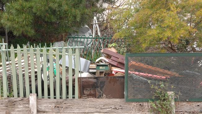 Rubbish piled up at a property in Hampton Park.