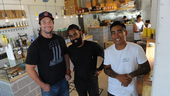 Parramatta Eels legend Nathan Hindmarsh, Ricki Row and Mike Ico, part owners are opening a cafe in Glenhaven called The Tuck Shop.