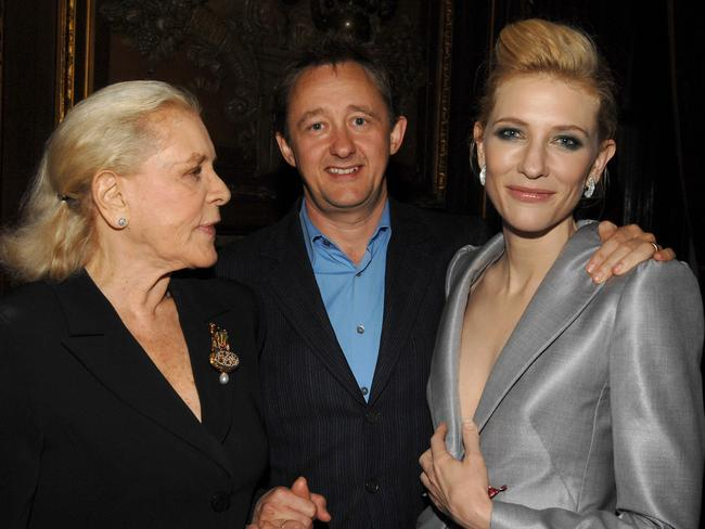 Lauren Bacall, Andrew Upton and Cate Blanchett. Picture: WireImage