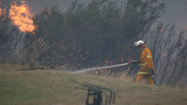 ire fighters fought to protect property from being destroyed. Picture: Gary Ramage