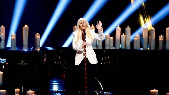 Christina Aguilera performs onstage at the 39th Annual People's Choice Awards . Picture: Getty
