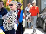 Third-time's a breeze for Gwen Stefani showing off her slender post-baby body as she leaves her favorite acupuncture clinic in Los Angeles with her son Apollo close behind. Stefani welcomed son Apollo Bowie Flynn Rossdale in February. The fashion stylist wore a red sweater with matching lip stick, grey slacks and strappy leather heels for her visit to the clinic the month. Picture: Splash