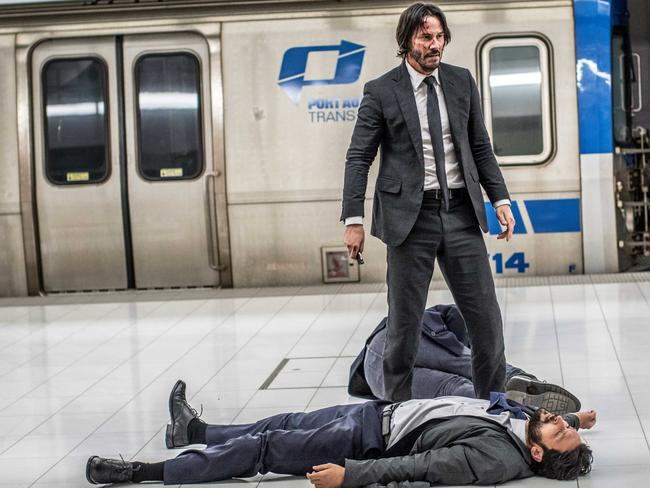 Keanu Reeves records an even bigger body count in the sequel.