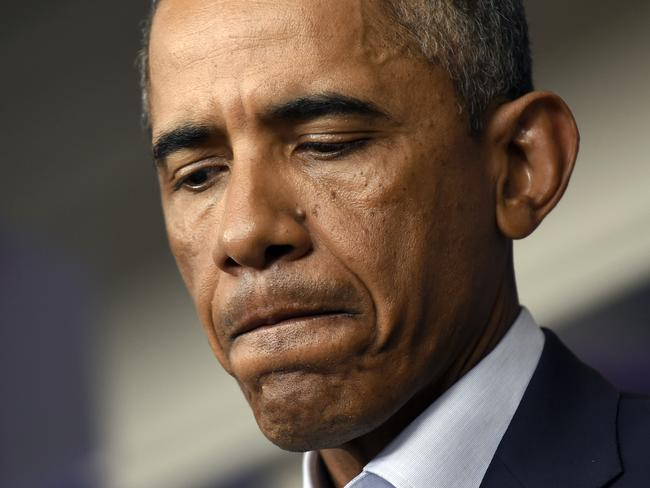 "Appalled ... President Barack Obama declared yesterday: ""ISIL speaks for no religion."" Pic: AP Photo/Susan Walsh"