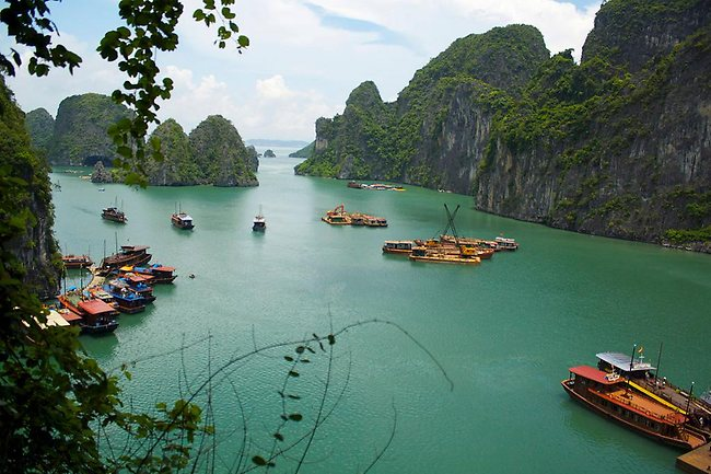 Halong Bay, in the north of Vietnam, is a picturesque bay featuring limestone isles of various shapes and sized. Picture: Bruno/Flickr