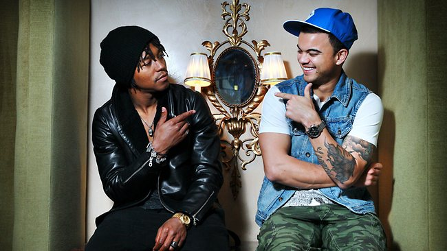 Lupe Fiasco and Guy Sebastian have their hit single called Battle Scars. Picture: Nic Gibson