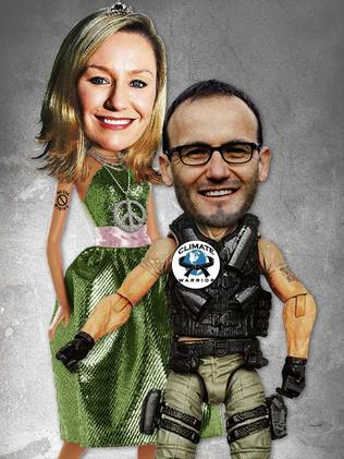 The Greens' Larissa Waters and Adam Brandt / Digitally altered image
